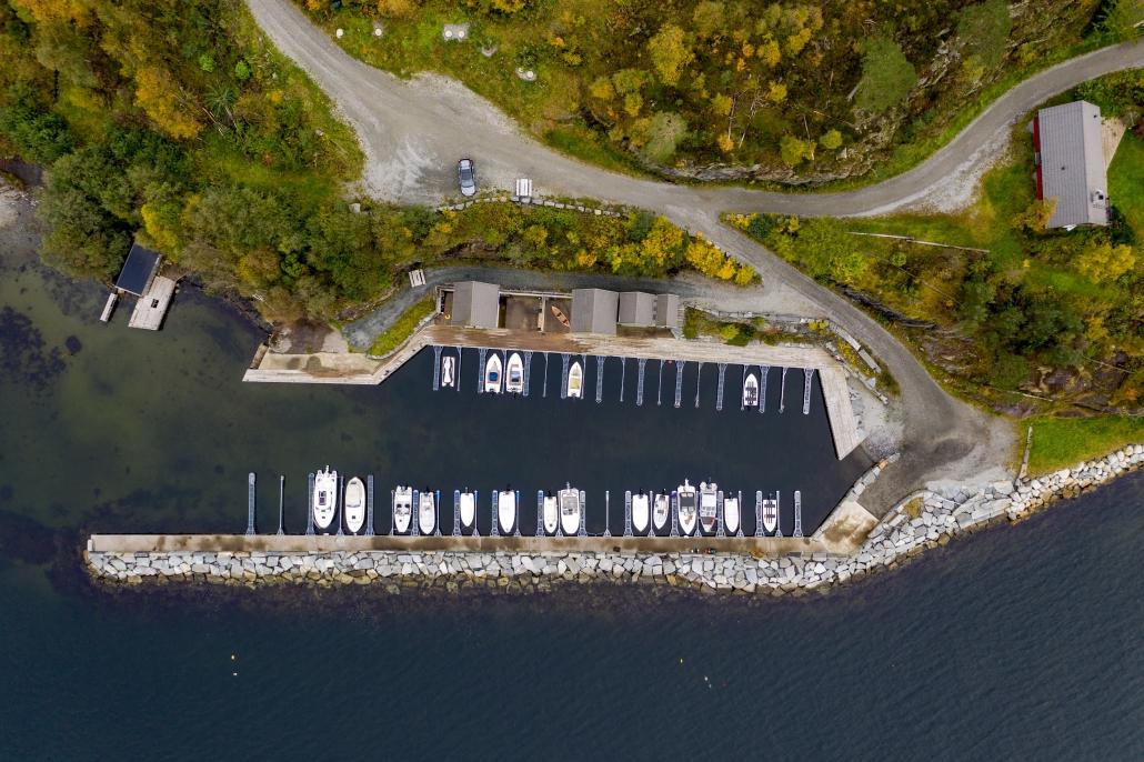 Lysåsen - Båthavna ovenfra, Foto Mattis Espedal Hohmann